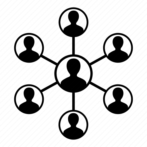 connection, group, man, network, people, team, teamwork icon