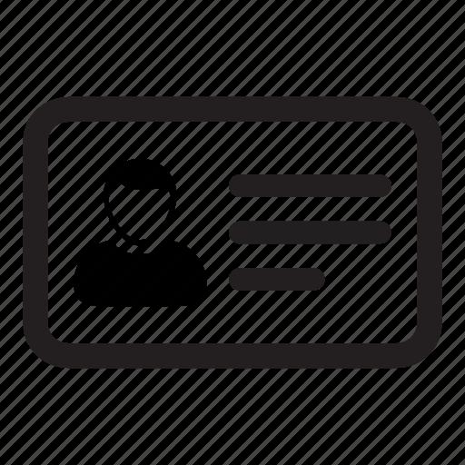 business, card, id, identity, man, person, profile icon
