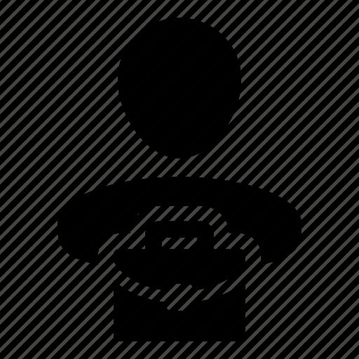 avatar, briefcase, business, finance, man, money, person icon