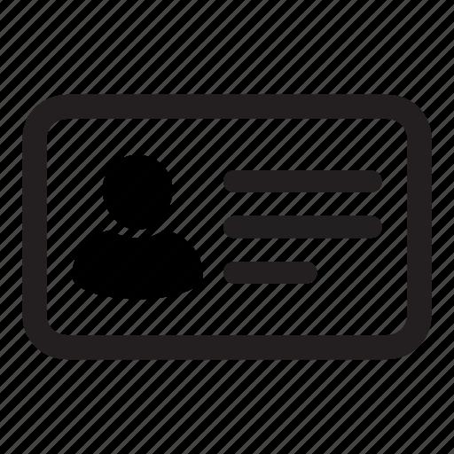 address, business, card, id, identity, person, profile icon
