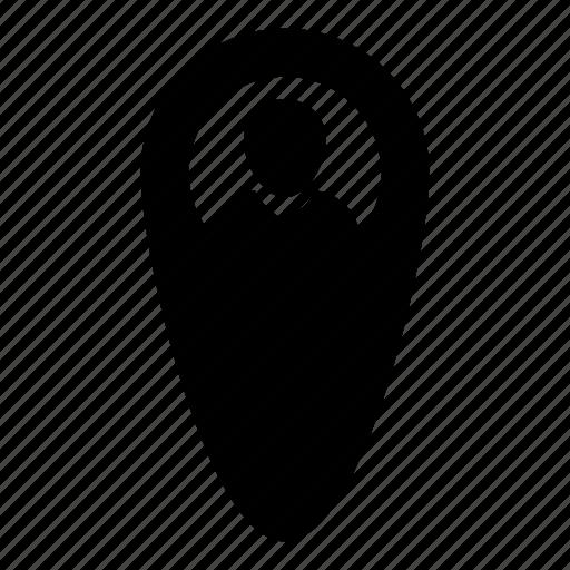 avatar, location, map, marker, navigation, pin, user icon