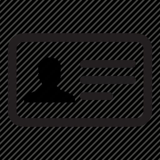 business, card, id, identity, person, profile, user icon