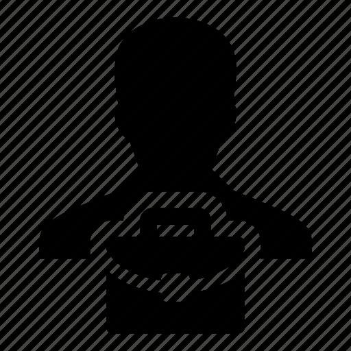 avatar, briefcase, business, document, finance, man, person icon