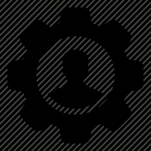 account, cog, gear, person, profile, settings, user icon