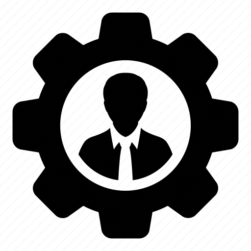 avatar, cog, gear, person, profile, settings, user icon