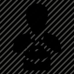 avatar, briefcase, business, finance, man, person, profile icon