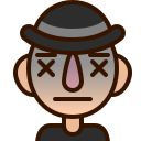dead, emoji, emoticon, expired, lifeless, man, smiley