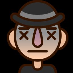 dead, emoji, emoticon, expired, lifeless, man, smiley icon