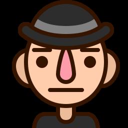 emoji, emoticon, face, man, neutral, serious, staid icon