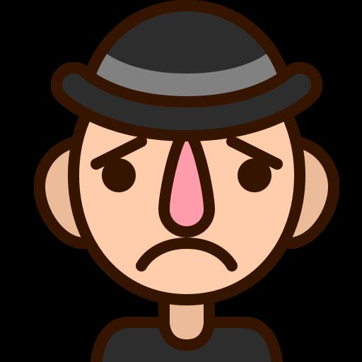 emoji, emoticon, man, sad, smiley, sorry, unhappy icon