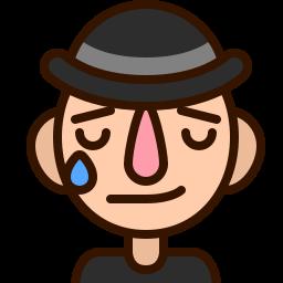 cry, emoji, man, melancholy, nostalgia, sad, tear icon