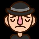 emoji, man, sad, smiley, upset, avatar, emoticon