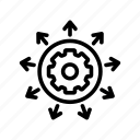 contour, elements, management icon
