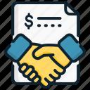 agreement, business, contract, deal, memorandum, strategic, understanding icon