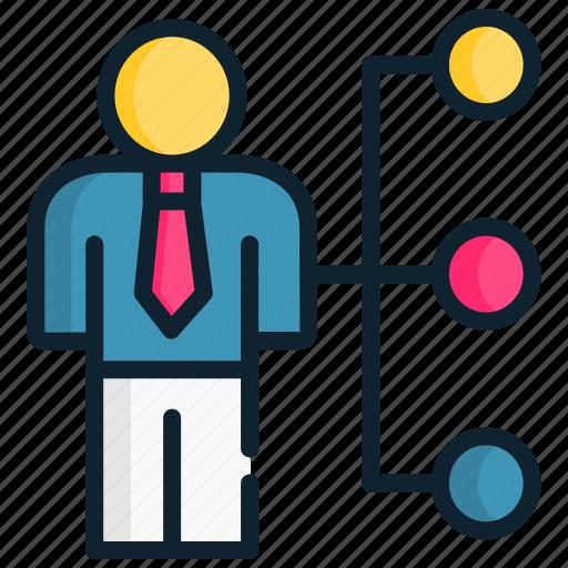 Business, chart, human, link, management, strategic icon - Download on Iconfinder