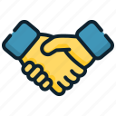 agreement, contract, deal, handshake, management, strategic icon
