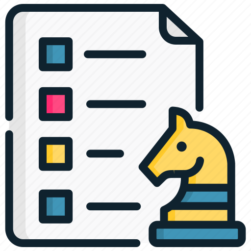 file, horse, list, management, report, strategic, strategy icon