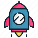 launch, management, rocket, space, start up, strategic, up icon
