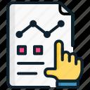 analytics, briefing, chart, finance, management, showing, strategic icon