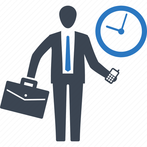 business, businessman, meeting, punctuality icon