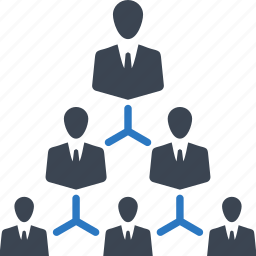 business, corporate hierarchy, leadership, team icon