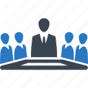 businessman, meeting, team, teamwork icon