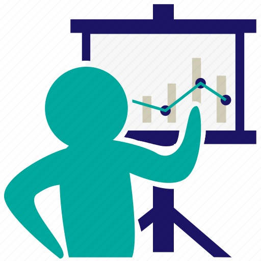 business meeting, graph, leadership, management, organization, presentation, recruitment icon