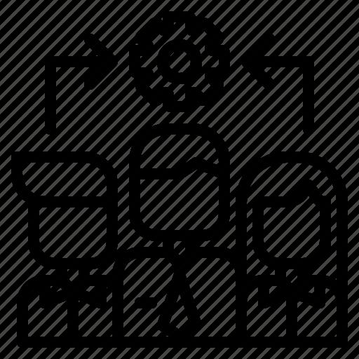 Team, management, leadership, leader, skills, partner, delegation icon - Download on Iconfinder