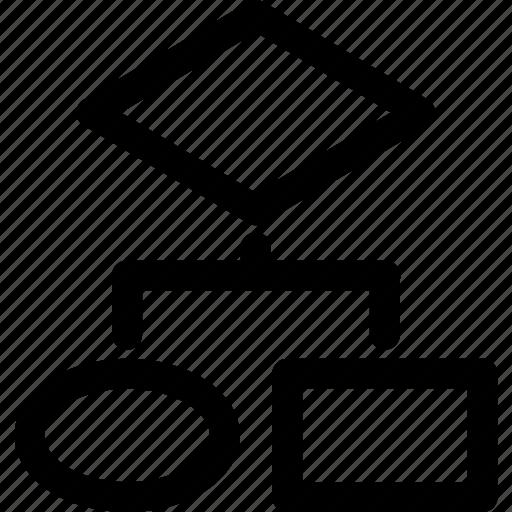 algorithm, flow chart, flowchart, internet, program, programming, technology icon