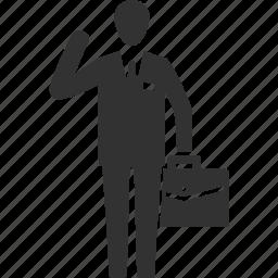 briefcase, businessman, man icon
