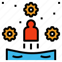 act, behavior, conduct, display, manners icon