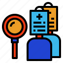 cases, check, data, patient, subject icon