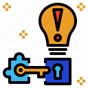 key, problem, solution, solve, solving icon
