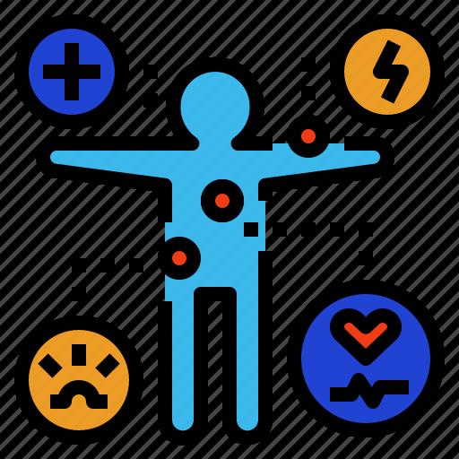 illness, indication, indicative, sign, symptom icon