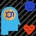 delightful, dopamine, happy, hormone icon