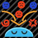 bad, emotional, mood, moody, problem, psychosis icon