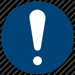alarm, alert, caution, danger, error, exclamation, think icon