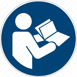 book, follow, instructions, iso, manual, notebook, read icon