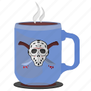 coffee, cup, killer, maniac, print, tea icon