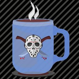 coffee, cup, killer, maniac, print, tea icon