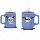 coffee, cups, drink, killer, maniac, tea icon