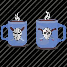 coffee, cups, drink, killer, maniac, tea icon