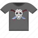dark, killer, maniac, print, tshirt, wear icon