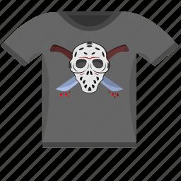 dark, killer, maniac, print, tshirt, wear icon
