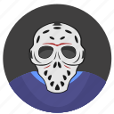 avatar, killer, maniac, mask, skin icon