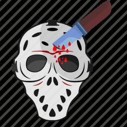 blood, drops, head, killer, knife, maniac icon