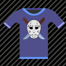 killer, maniac, print, tshirt, wear icon