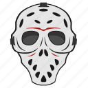 face, killer, maniac, mask, skull icon