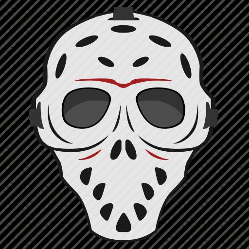 face, killer, maniac, mask, skull icon