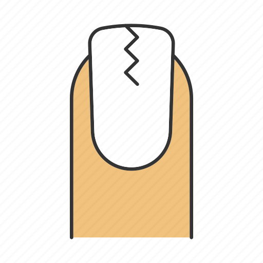 Broken, care, cracked, manicure, nail, polish, treatment icon